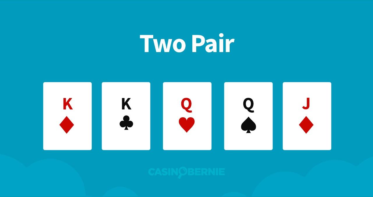 Zwei Paare Pokerhand