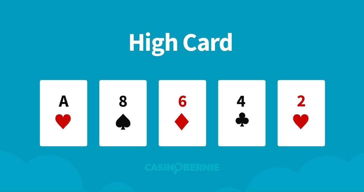 Hohe Karte Pokerhand