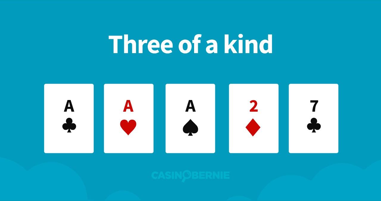 Drei Gleiche Pokerhand