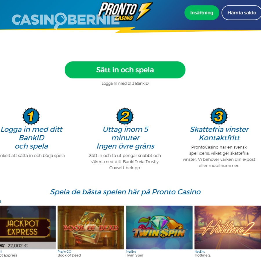 casinobernie prontocasino recension